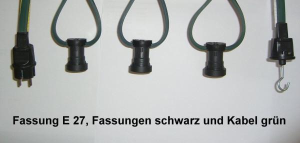 E27 Illu Lichterkette MONTIERT 20m 40 Fass//Dicht Biergarten Party Weihnachten