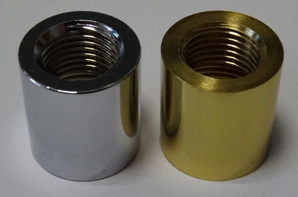 Reduziermuffe M 13x1 / M 10x1, Innengwinde, messing poliert oder chrom